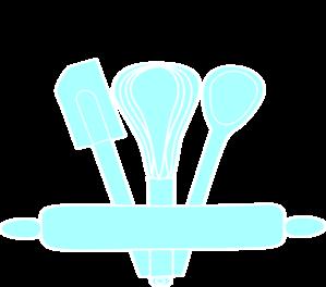 Blue Baking Utensils Clip Art At Vector Clip