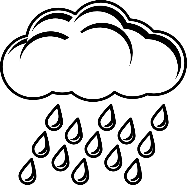 Cloud With Rain Outline Clip Art at Clker.com - vector ...
