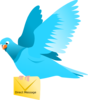 Pigeon Delivers Direct Message Clip Art