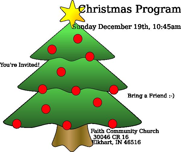 Christmas Program Clip Art at Clker.com - vector clip art ...