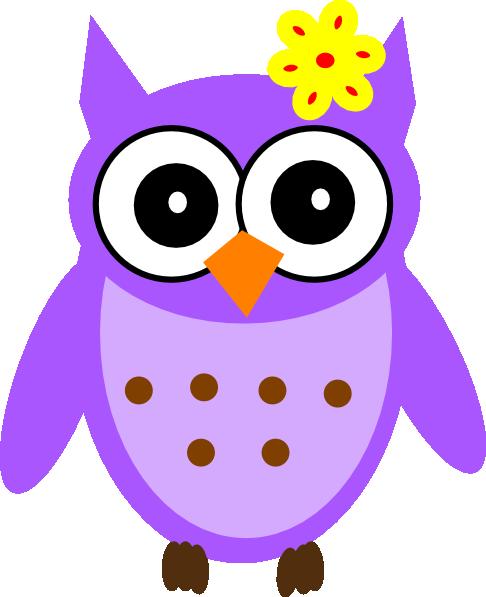 Purple Baby Girl Owl Clip Art at Clker.com - vector clip ...