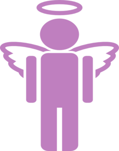 Purple Unknown Angel Clip Art