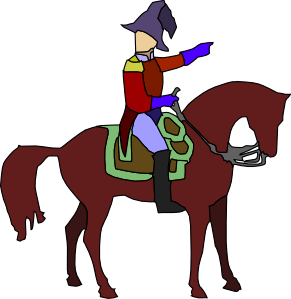 Historic Soldier On A Horse Clip Art