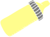 Baby Bottle Yellow Gray Clip Art