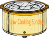 Slow Cooking Sunday Clip Art
