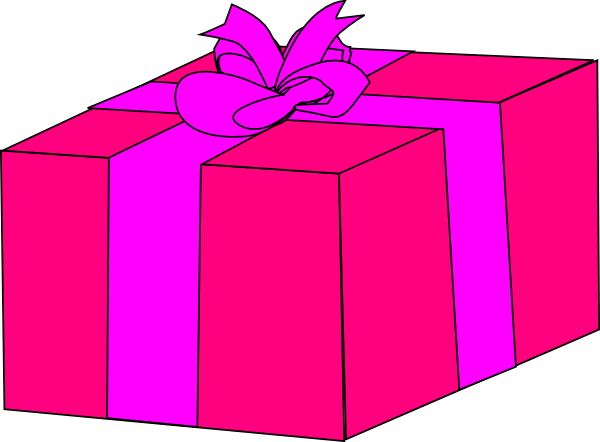 Pink Gift Box Clip Art at Clker.com - vector clip art ...