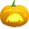 Crying Jack O' Lantern Clip Art