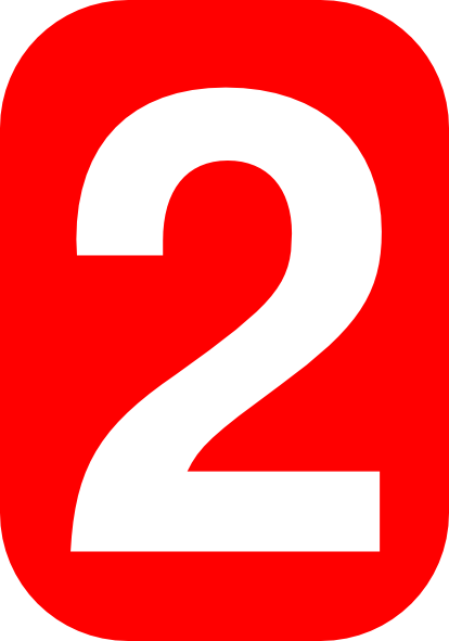 Number Two In Red Clip Art at Clker.com - vector clip art ...