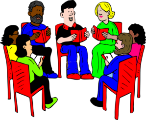 Group Of Readers. Clip Art