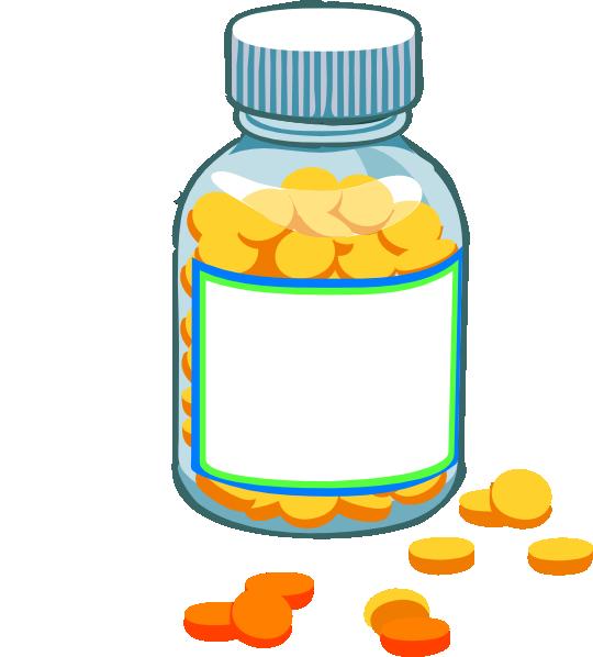 blank pill bottle clip art at clker com