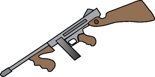thompson machine gun clip art at clker - vector clip art