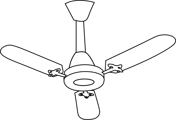 A Sketch Of A Electric Fan : Ceiling fan outline clip art at clker vector