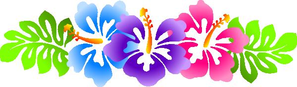 Hibiscus Line Border Clip Art at Clker.com - vector clip ...