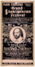 Grand Shakespearian Festival The Greatest Works Of The Master-mind Presented In A Most Sumptuous Manner : Magnificent And Realistic Stage Pictures Of The Greatest Historical Tragedies, Each Play A Production.  Clip Art