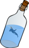Bottled Glass With Killer Whale Clip Art