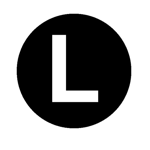 White Letter L Clip Art At Clker Com Vector Clip Art