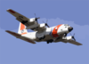 Hc-130 Aircraft From The U.s. Coast Guard Air Station Barbers Point, Hawaii, Performs A Homeland Security Flight Clip Art