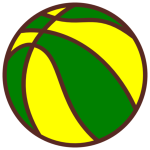 Basketball Green And Yellow Clip Art