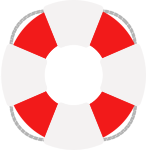 Lifesaver Red And Grey Clip Art