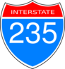 Interstate 235 Road Sign Clip Art