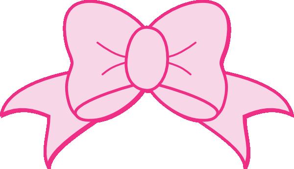 pink bow clip art at clker com