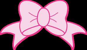 Pink Bow Clip Art at Clker.com - vector clip art online, royalty free & public domain