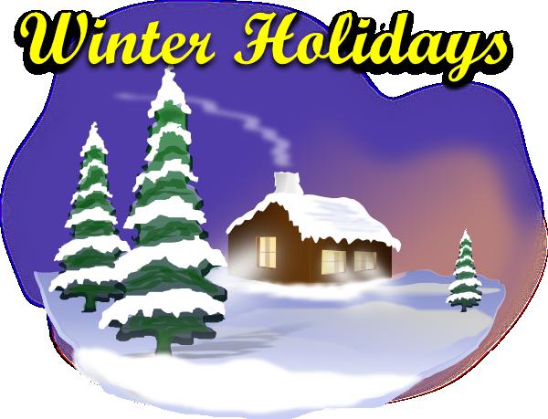 Winter Holiday Scene Clip Art at Clker.com - vector clip ...