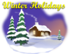 Winter Holiday Scene Clip Art