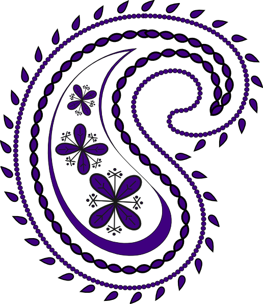 purple paisley2 clip art at clkercom vector clip art