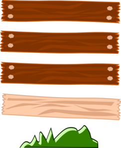 Wood Street Sign Clip Art