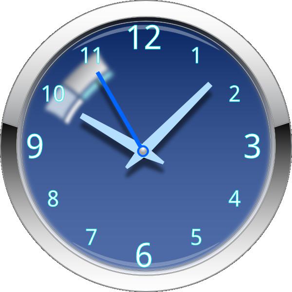 Glossy Blue Clock Clip Art At Clker Com Vector Clip Art