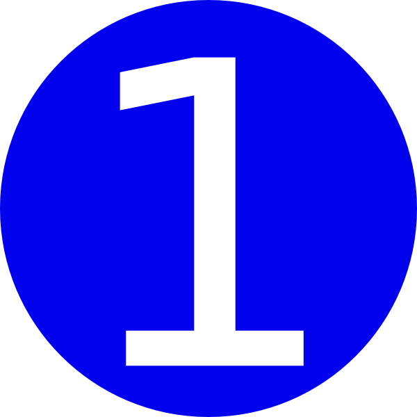 Blue  Rounded With Number 1 Clip Art At Clker Com