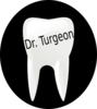 Turgeon Tooth Name Tag Clip Art