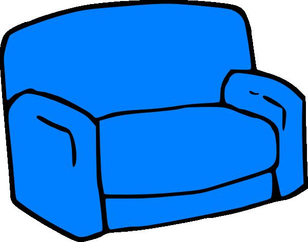 Blue sofa clip art at vector clip art online for Sofa clipart