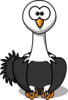 Ostrich With Black Feathers Clip Art