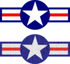 Air Force Stripes And Star Clip Art