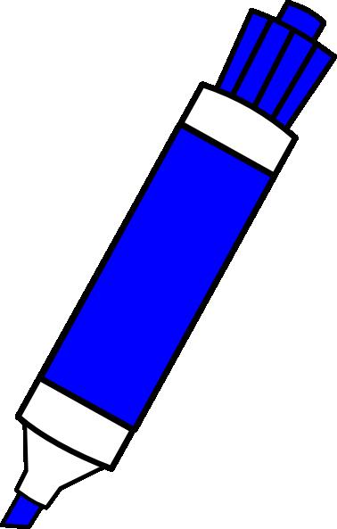 Blue Dry Erase Marker Clip Art at Clker.com - vector clip