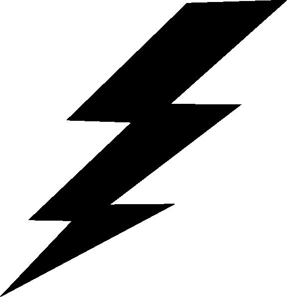black lightning bolt clip art at clker com