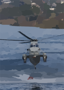 A Uh-3h Sea King Helicopter Loads Its Bambi Bucket Clip Art
