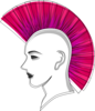 Punk With A Pink Mohawk Clip Art