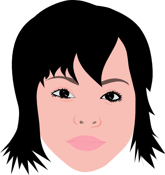 Asian Girl With Short Hair Clip Art At Clker Com Vector