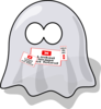 Cute Smiling Ghost Clip Art