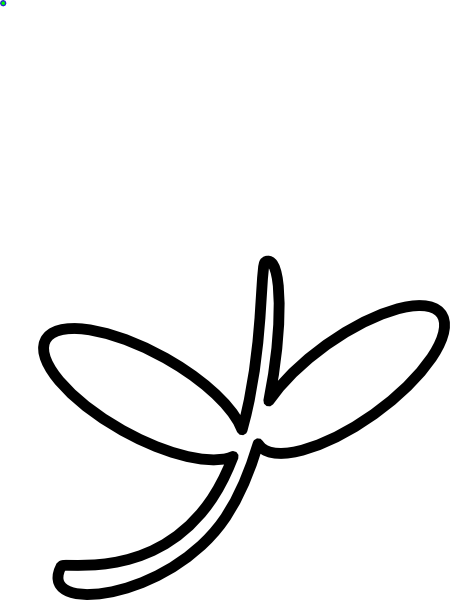 Flower Stem Outline Clip Art At Clker Com Vector Clip