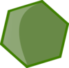 Hexagon Green Clip Art