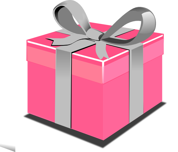 Pink Present Box Clip Art At Clker.com