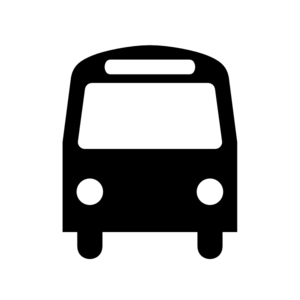 Bus Station Icon Black White Clip Art