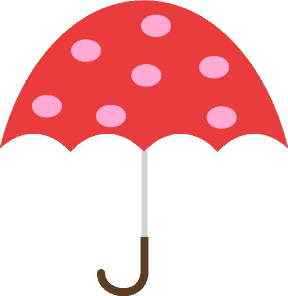 Pink Umbrella Clip Art Polka Dot Umbre...