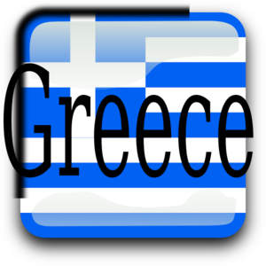 Greece Button Clip Art