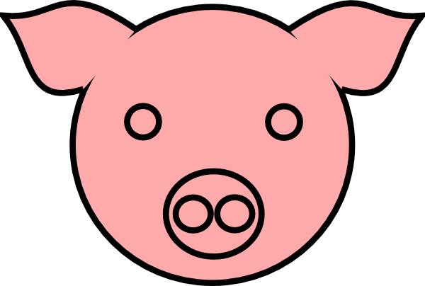 Pig 9 clip art at vector clip art online for Template for pig ears
