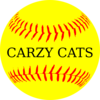 Softball Crazy Cats Clip Art